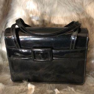 Handbags - Vintage black pattern hand bag